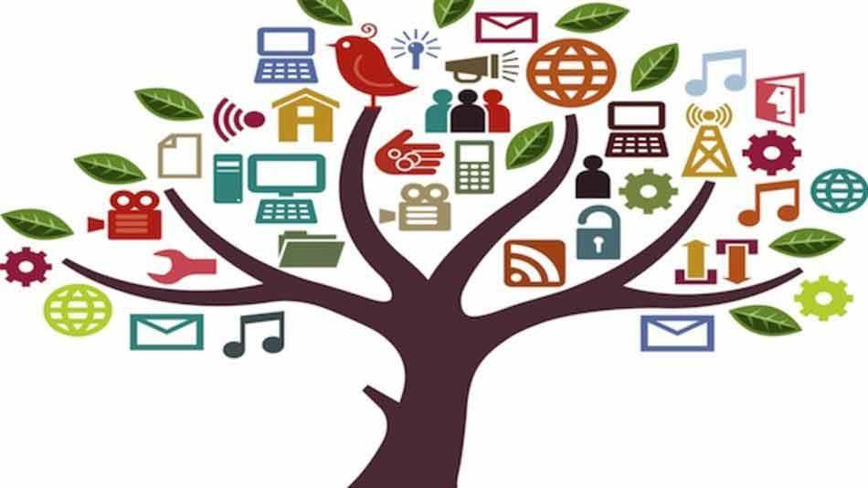 """Imagem: """"social media treel"""" publicada por Yoel Ben-Avraham em sua galeria no Flickr. Material distribuído por licença de direitos autorais aberta Creative Commons CC BY SA"""